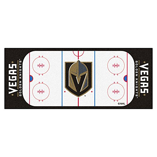 fan products of Fanmats NHL Las Vegas Golden Knights 22908Runner, Team Color, 30x72