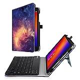 Fintie Asus ZenPad 3S 10 Z500M / ZenPad Z10 ZT500KL Keyboard Case - Slim Fit Folio Stand Cover w/ Detachable Wireless Bluetooth Keyboard for Verizon Asus ZenPad Z10 / 3S 10 9.7-Inch Tablet, Galaxy