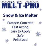 SNOW & ICE MELT - Unique Polymer Formula-BIG- 50lb Bag, Safe around pets, lawn, shrubs, sidewalks, porches and driveways.