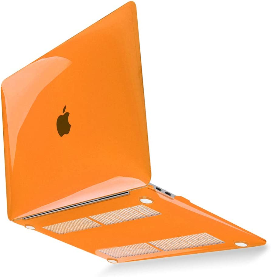 """Mektron 13 inch Laptop Case for MacBook Pro 2020 A2289 A2251, Plastic Hard Shell & Screen Protector & Keyboard Cover for Newest MacBook Pro 13"""" Touch Bar & Touch ID, Orange"""