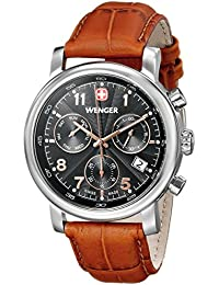 Men's 01.1043.103 Urban Classic Stainless Steel Watch with Brown Leather Band