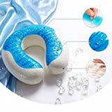 Size : S U Shaped Gel Memory Foam Pillow Cooling Neck Cervical Protective Pillows Travel Rest Pa by STCorps7