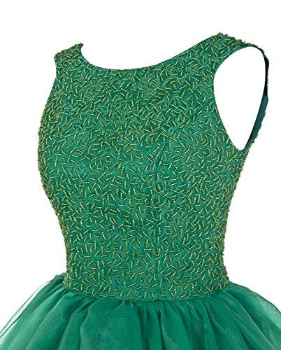 Dresstells®Vestido Princesa De Gala Fiesta Largo Sin Mangas De Organdí Con Cuentas Azul