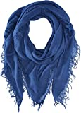 Chan Luu Women's Cashmere and Silk Scarf Medieval Blue One Size