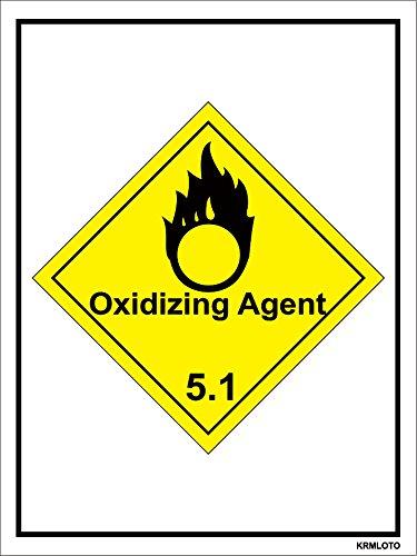 Self Adhesive Labels - Oxidizing Agent (Set of 50 pcs)