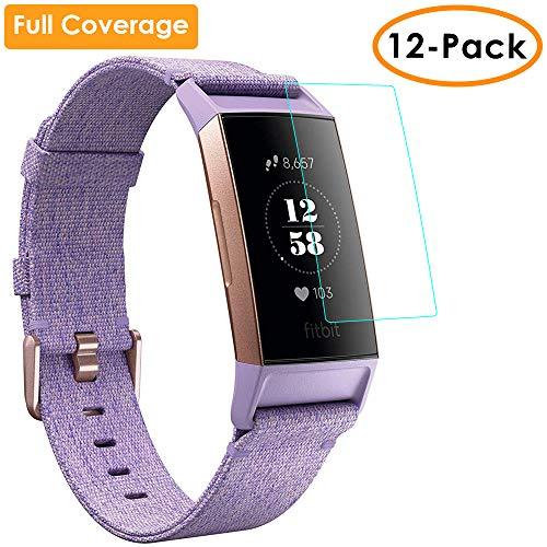Details about QIBOX Screen Protector Compatible Fitbit Charge 3, Full  Coverage Waterproof Scre