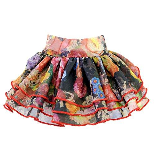 51TLEjKFioL - GBSELL Dog Retro Flower Tutu Dress Skirt Pet Dog Cat Princess Clothes Dress