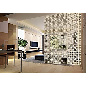Amazon.com: Lchen Hanging Room Divider, Simple Wood ...
