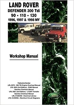 Land Rover Defender 300Tdi 90. 110 . 130 1996, 1997 & 1998 MY Workshop Manual