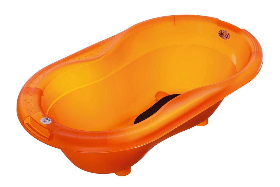 Orange TOP Mit Antirutschmatte und Ablaufst/öpsel 200010254 Rotho Babydesign TOP Badewanne Peach 0-12 Monate