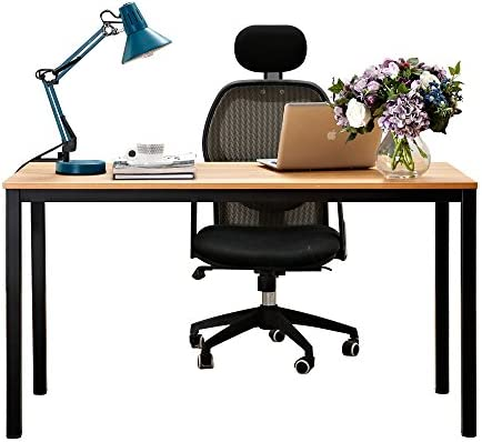 sogesfurniture 47 inches Large Size Office Desk Computer Desk Gaming Desk Computer Table with BIFMA Certification Sturdy Office Desk Writing Desk,OakBHUS-GCP2AC3-120OA