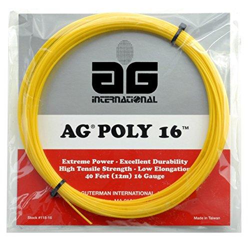 AG Poly 16 Polyester Tennis String Set