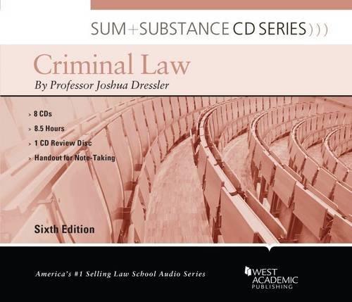 Sum and Substance Audio on Criminal Law by West Academic Publishing