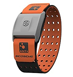 Scosche Rhythm+ Heart Rate Monitor Armband - Orange - Optical Heart Rate Armband Monitor With Dual Band Radio Ant+ & Bluetooth Smart
