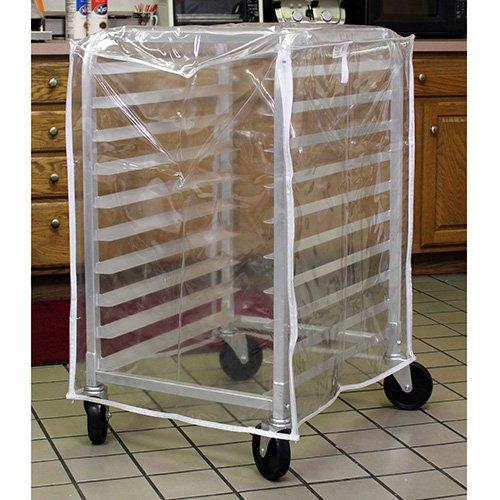 Curtron SUPRO-14-HALF Bakery Rack Cart Cover Medium Duty, Fits Half-Size Racks