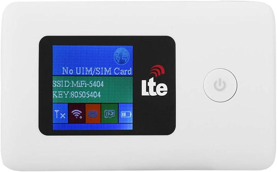 garsent 4G WiFi Router Mobile, USB2.0 10/100 / 1000Mbps 150Mbps SIM Hotspot inalámbrico Router Hotspot Wi-Fi portátil portátil