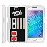 Cheap MINITURTLE Case Compatible w/ [Samsung Galaxy J1 J120 Case (2016), Amp 2 Case, Express 3 Case][Snap Shell] Hard Plastic Slim White Snap on case w/ Unique Designs Game Controller