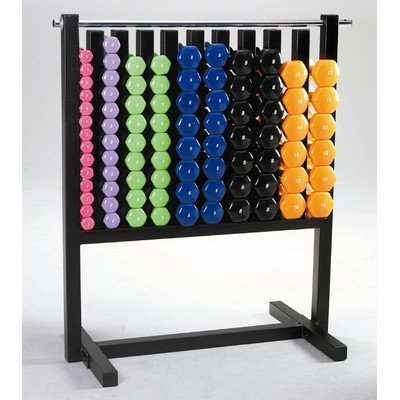 VTX by Troy Barbell MDR-DVPAC Display Pac Locking Rack & 43 Pairs of Vinyl Coated Dumbbells, One Size