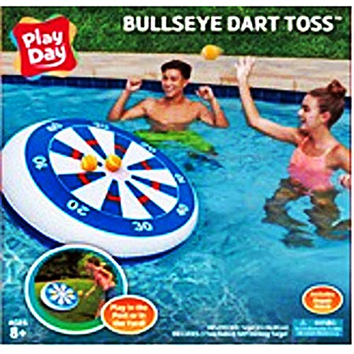 .Play Day. Inflatable Floating Bulls-Eye Sticking Dart Board Toss
