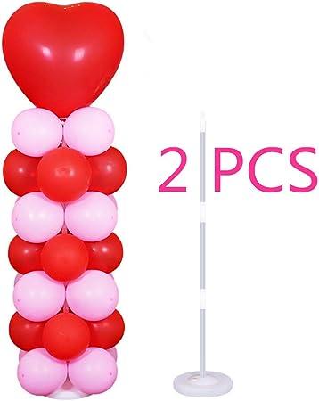 2x Plastique Ballon Arch Colonne Support avec base Kits Mariage Fête D/'Anniversaire Décoration