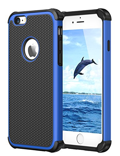 iPhone 6S Case, iPhone 6 Case, CHTech Double Durable Shockproof Case for Apple iPhone 6/6S 4.7 Inch (Blue) (Double Case Case Football)