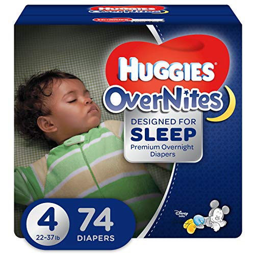 HUGGIES OverNites Diapers, Size 4, 74 ct., GIGA JR PACKOvernight Diapers (Packaging May Vary)