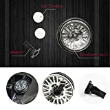 Mrcartool Car Air Vent Freshener Essential Aromatherapy Oil Tyre Wheel Turns Diffuser+2 Refill Pads with Fresh Scent