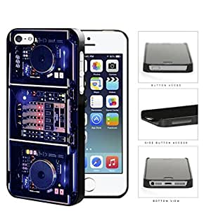 DJ Turntables With Glow Neon Lights Hard Plastic Snap On Cell Phone Case Apple iPhone 5 5sKimberly Kurzendoerfer