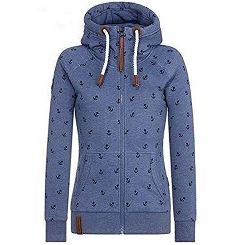 Newbestyle Jas dames sweatjack hoodie sweatshirt bovenstuk dames pullover capuchon pullover met ritssluiting