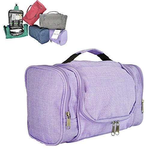 DALIX Travel Toiletry Kit Accessories Bag in Purple