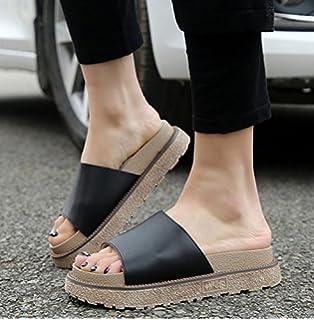 CXKS® Sandalen Damen Sandalen Flachbild Sehne Einfach Hinten Reißverschluss Atmungsaktiv Cross Strap, Schwarz, 43