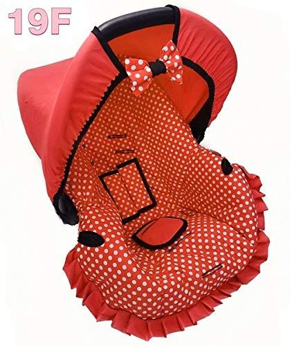 Capa Para Bebe Conforto - Vermelho Bola Branca - Multimarcas Sem Bordado Alan Pierre Baby