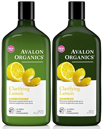 Avalon Organics Clarifying Lemon, DUO Set Shampoo + Conditioner, 11 Ounce, 1 Each