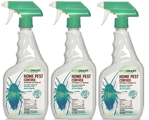 EcoSmart Natural, Plant-Based Indoor/Outdoor Home Pest Control, 24 Ounce Ready-to-Spray Bottle (Pack of 3)