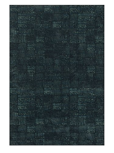Loloi Rugs VISTVT-04BLBB5277 Vista Collection Transitional Area Rug, 5-Feet 2-Inch by 7-Feet 7-Inch, Black/Blue