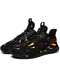 Running Shoes Men Sneakers Fashion Lightweight Breathable Mesh Gym Training Shoes, Traveling Sport Shoes. Black(9M=EUR42.5)