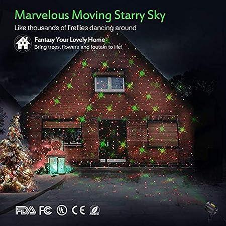 Amazon.com: Laser Christmas Light - Indoor Outdoor Waterproof Projection Lights  Moving 12 Pattern Lighting Landscape Laser Projector Light Show for ... - Amazon.com: Laser Christmas Light - Indoor Outdoor Waterproof