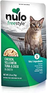 Nulo, Freestyle Chicken, Yellowfin Tuna & Duck in Broth Cat Food Pouch, 2.8 oz