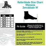 Rollerblade Zetrablade Women's Adult Fitness Inline Skate, Black/Light Blue, US Women's 7