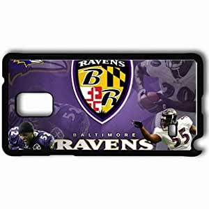 Personalized Samsung Note 4 Cell phone Case/Cover Skin 1357 baltimore ravens Black by lolosakes
