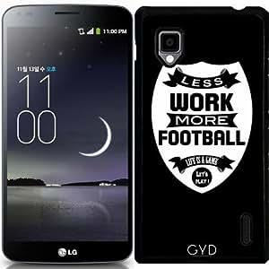 Funda para LG Optimus G (E975) - Menos Trabajo Más Fútbol by wamdesign