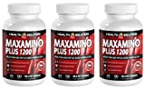 L tryptophan b6 - MAXAMINO PLUS 1200 - boost athletic performance (3 Bottles)