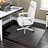 PVC Matte Desk Office Chair Floor Mat Protector for Hard Wood Floors 48'' x 36''