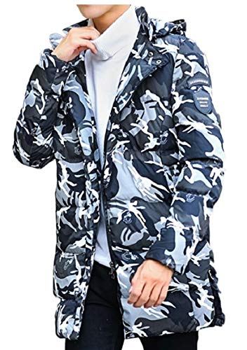Wadded Jacket Coat Men Padded Cotton Warm Camo Outwear Print Gery security Bzq8w8