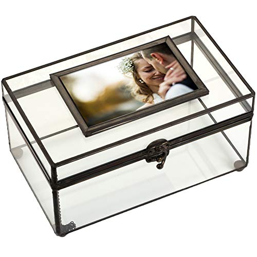 J Devlin Box 603 Clear Glass Display Photo Box 6 x 10 x 5 - Box Personalize Photo