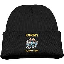 Ramone Road To Run Black Wool Beanie Skull Cap
