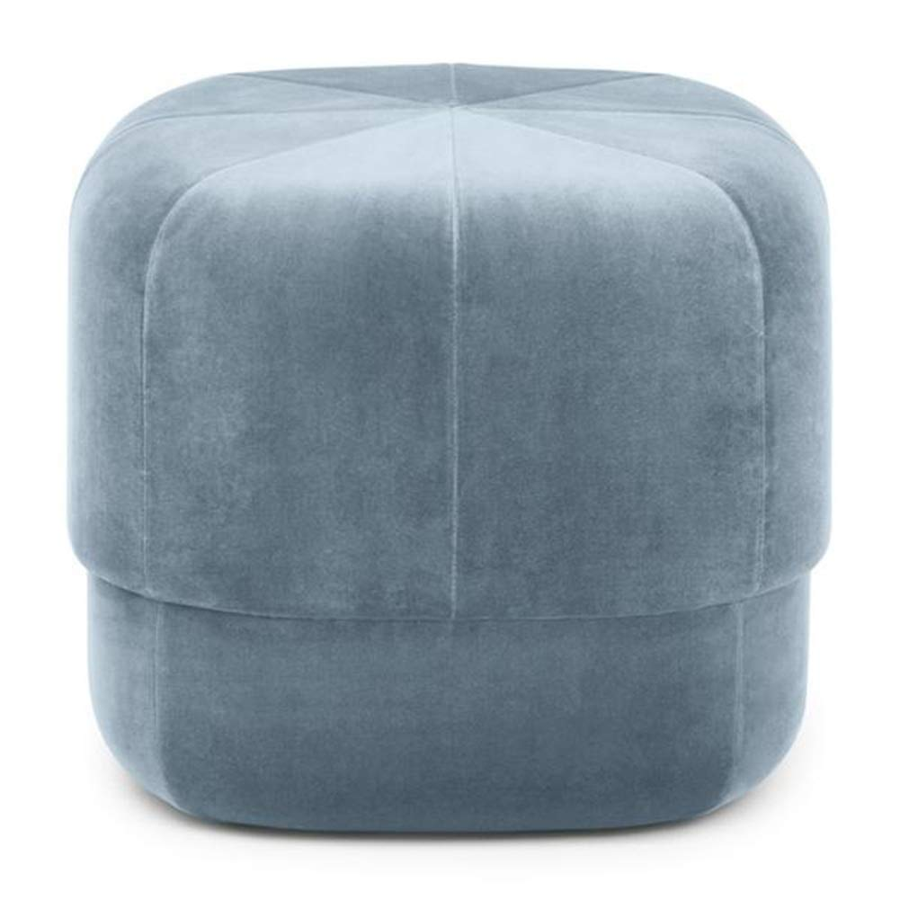 bluee 4040 cm ZHAOYONGLI Footstools,Otools Porto Brushed Suede Drum Pouffe - Luxury Cylindrical Footstool - Round Footrests (color   Purple, Size   40  40 cm)