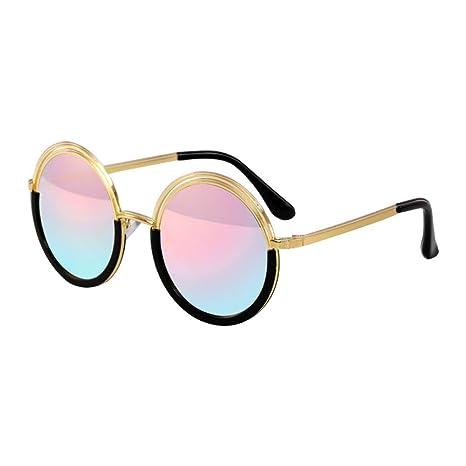 ZCF Señoras Gafas de Sol Cara pequeña Marco Redondo ...