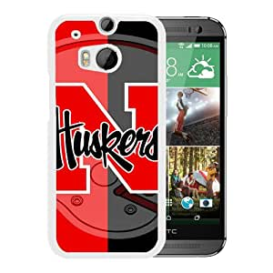 Excellent protection,Lightweight and durable Ncaa Big Ten Conference Football Nebraska Cornhuskers 4 White HTC ONE M8 Case