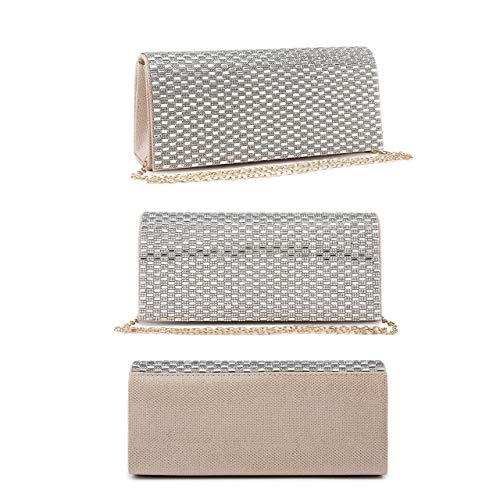 Bag Mirror Encrusted Clutch Mabel Purse 1 London Diamante Womens Design and Wedding Evening Beige 1qIwazI